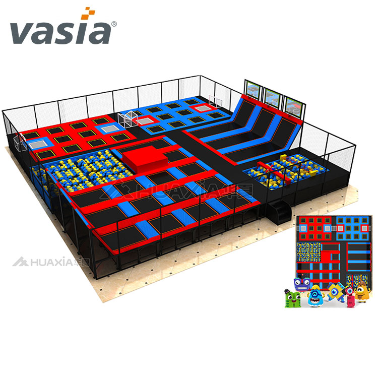 Vasia Commercial Kids Play Trampoline Equipment Indoor Trampoline Park