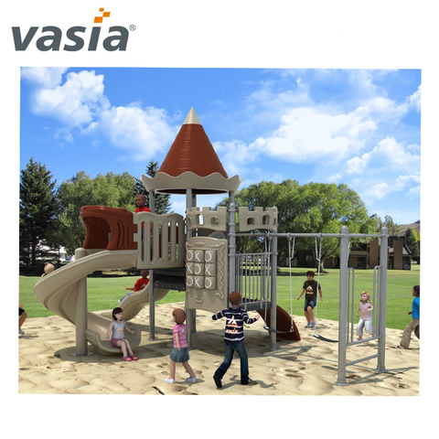 wholesale commercial kindergarten Outdoor plastic slide
