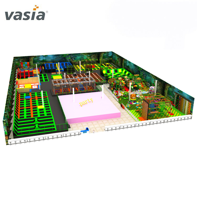 Cheap Prices Business Plan Commercial Kids Sky Zone Playground Equipment Jump Big Indoor Trampoline Park With Foam Pit For Sale