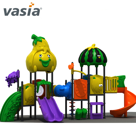 Funny children's outdoor play equipment with plastic