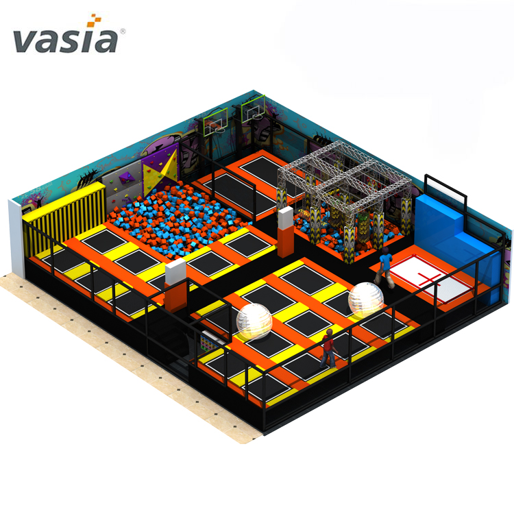 Professional Equipment Factory Big Trampoline Parks Indoor Playground