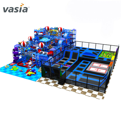 Big Commercial Soft Play Indoor Trampolines Park for Kids Adult with Foam Pits Stick Wall