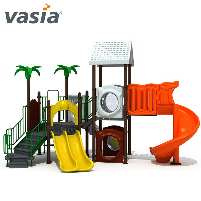 Commercial Preschool Outdoor Play Structures Plastic Gym Playground Equipment