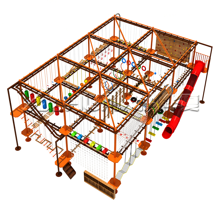 Vasia Indoor Adventure Aerial Course Rope Course Kids Playground For Sale