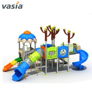 Perfect Color Kids Lovely Outdoor Play Slide Child School Use Playground Equipment