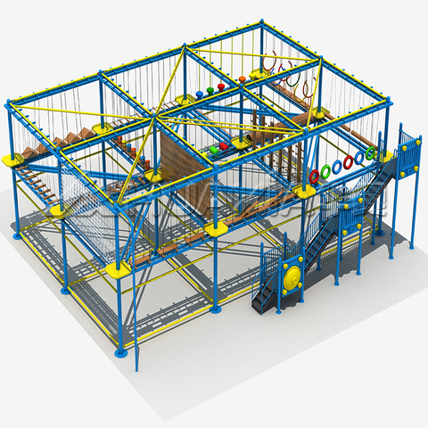 Multi-function project element rope course kids and teenage outdoor playground