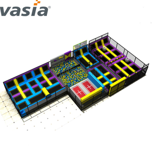 2020 Huaxia Rectangle Jumping Theme Park Indoor Equipment Trampoline