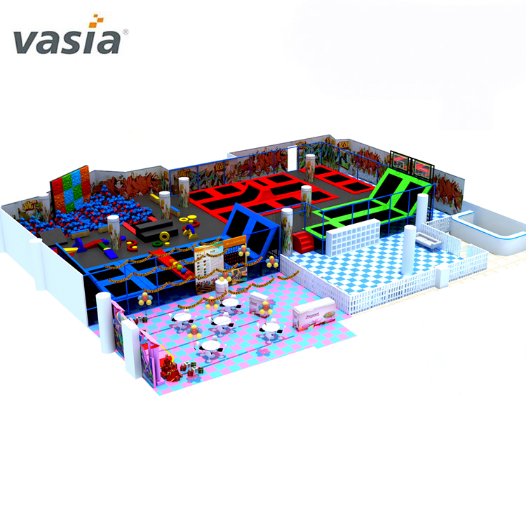2020 Popular Climbing Wall Free Jumping Indoor Trampoline Park