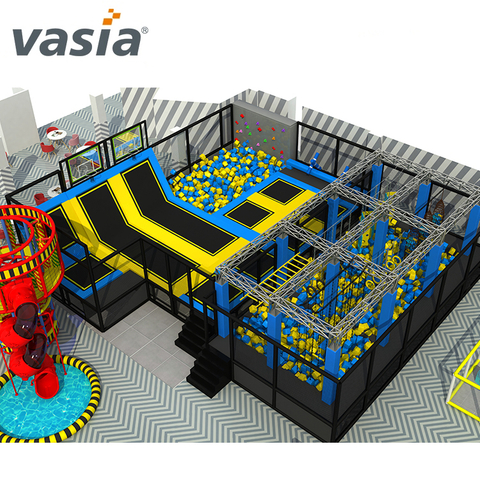 Customized Trampoline Park with Kids Indoor Soft Playground