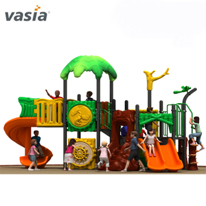 Happy Natural Theme Backyard Use Kids Climbing Frame with Slide And Playground