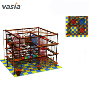 Commercial Happy Use Indoor Entertainment Rope Course Equipment