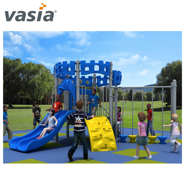 wholesale commercial kindergarten combination outdoor plastic slide