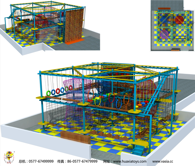 2020 Top Selling Indoor Rope Course Adventure